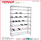 OW-WD04 Wine Rack, Red Wine Holder, Bottle Display Racks, Steel Wire Shelf, Wire Shelving, Stainless Steel Wine Bottle Holder