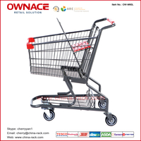 OW-M-Series American Style Trolley Supermarket Shopping Trolley/Cart with Different Capacity