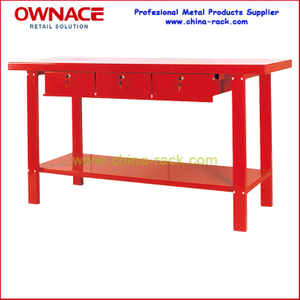 Steel Workbench With Three Drawers