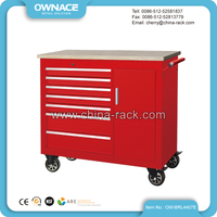 OW-BRL4407E Heavy Duty Roller Storage Cabinet with Wood Top