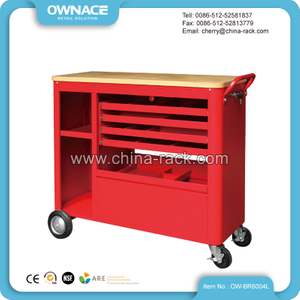OW-BR6004L Wood Top Storage Roller Tool Cabinet&Trolley