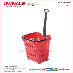OW-BR006 Hot-selling Durable Rolling Shopping Basket
