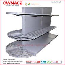 OW-A29 OW-A29 New Style of Supermarket Equipmenet, Semicircle Net Wire Shelf for Tego Gondola Supermarket Shelf